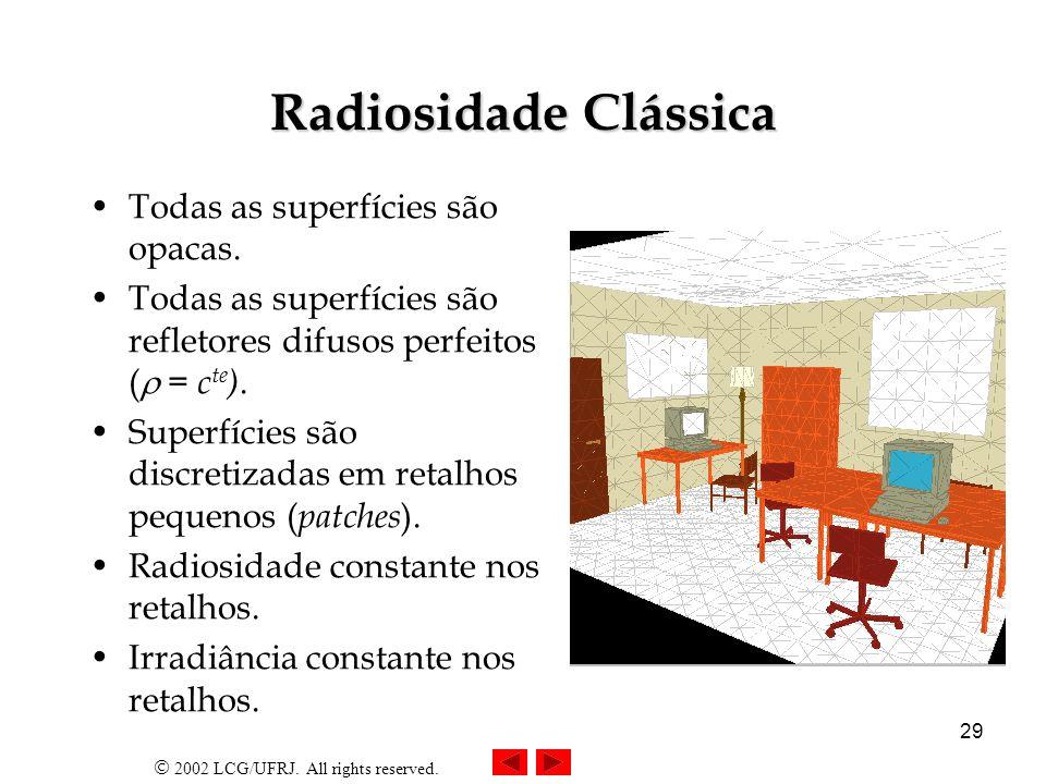 2002 LCG/UFRJ.All rights reserved. 30 Conceito Método de relaxação.
