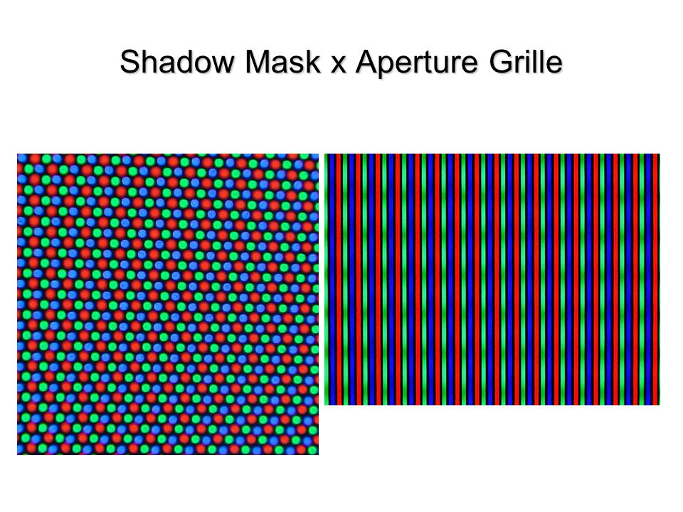 Shadow Mask x Aperture Grille