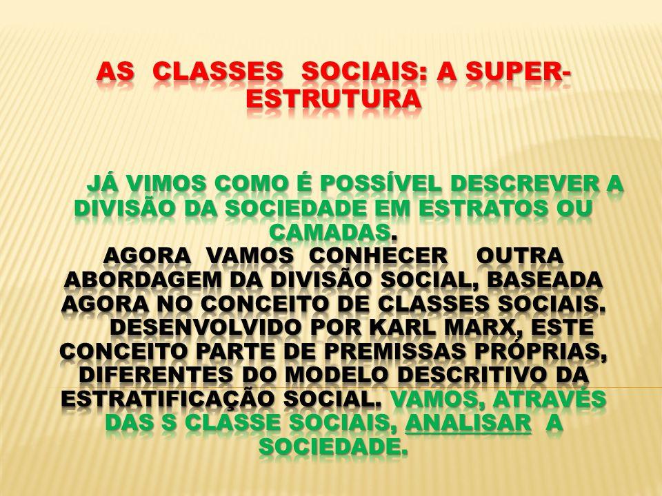 AS CLASSES SOCIAIS NÃO SE LIMITAM A DESCREVER...