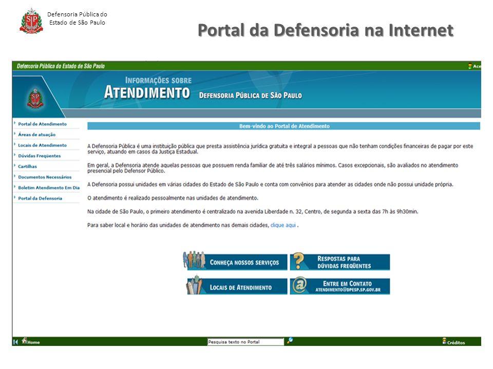 Portal da Defensoria na Internet Defensoria Pública do Estado de São Paulo