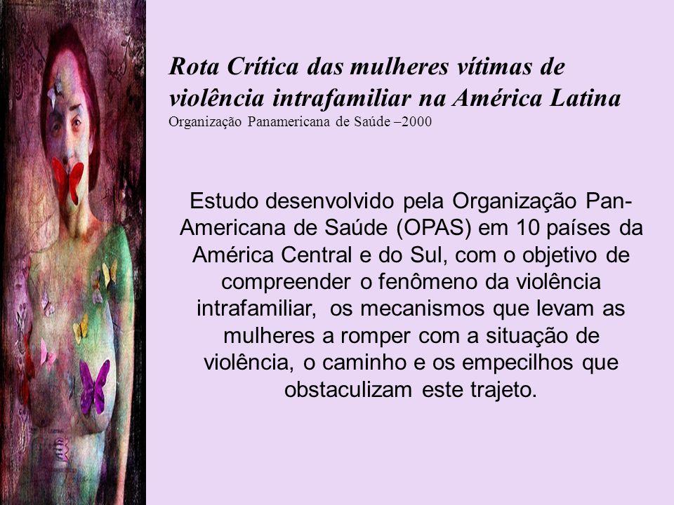 Estudo desenvolvido pela Organização Pan- Americana de Saúde (OPAS) em 10 países da América Central e do Sul, com o objetivo de compreender o fenômeno