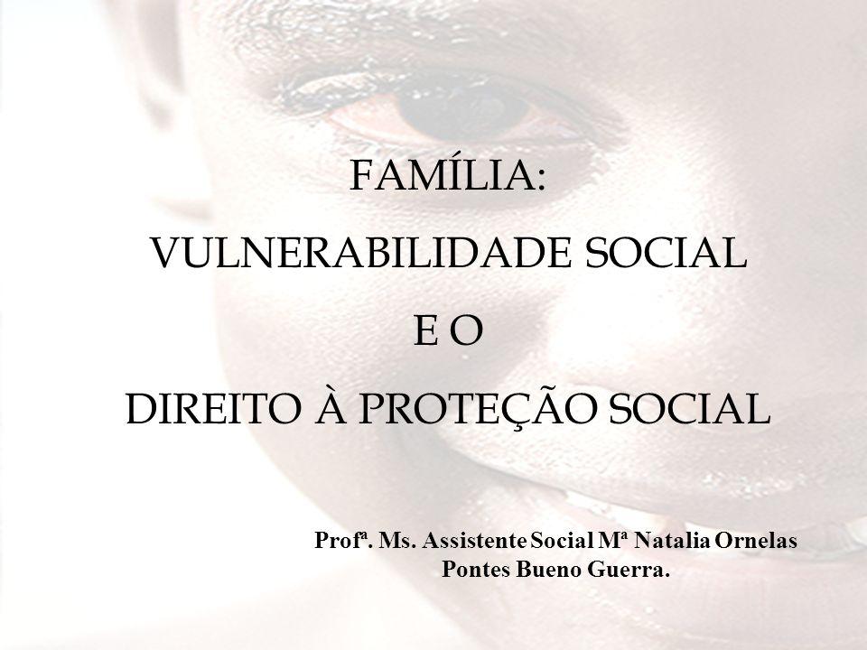 No Brasil – SUAS/IPEA – 2002: 50% dos mais pobres detinham 14.4% do rendimento 1% dos mais ricos detinham 13.5% do rendimento EXCLUSÃO SOCIAL