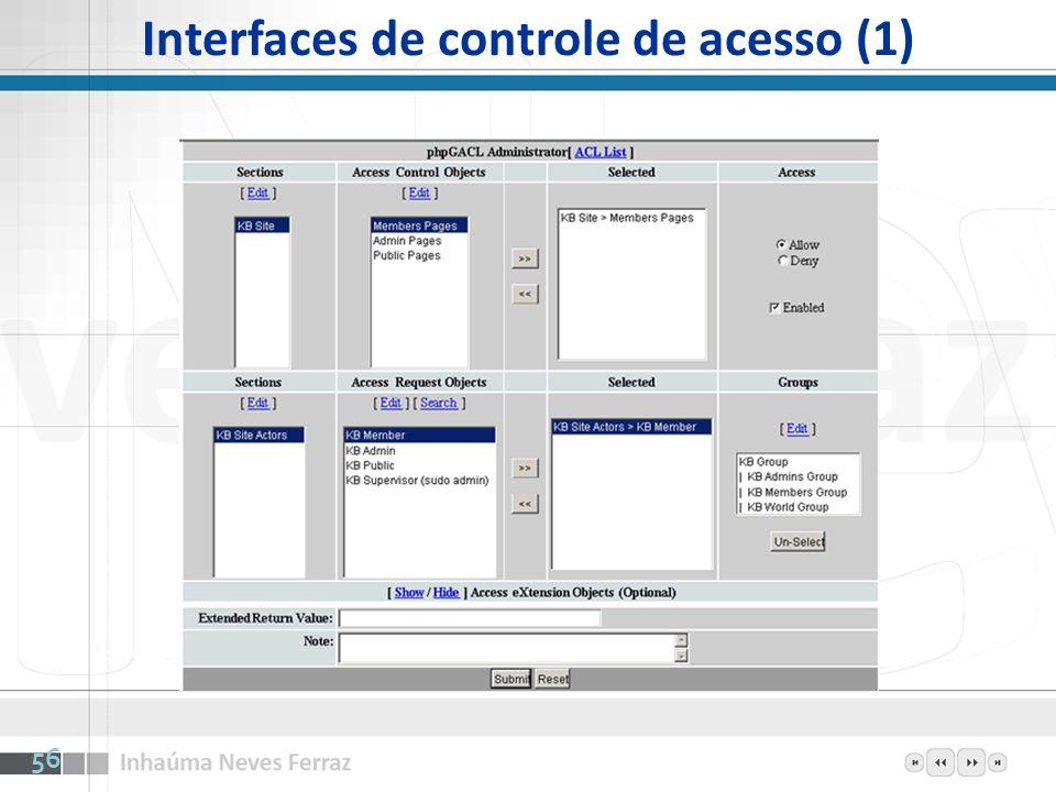 Interfaces de controle de acesso (1) 56