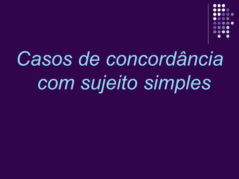 Pronome relativo QUE Quando o sujeito é o pronome relativo que, a concordância em número e pessoa é feita com o antecedente desse pronome.