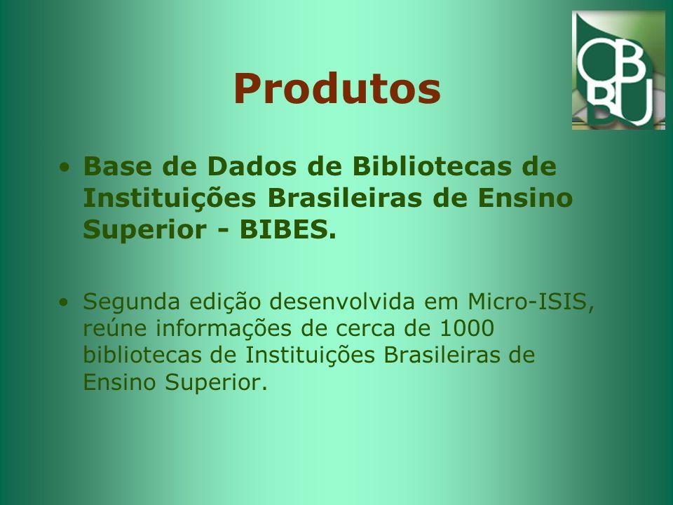 Produtos Base de Dados de Bibliotecas de Instituições Brasileiras de Ensino Superior - BIBES.