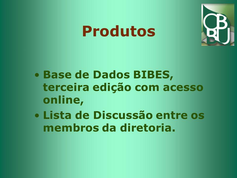Produtos Base de Dados BIBES, terceira edição com acesso online, Lista de Discussão entre os membros da diretoria.