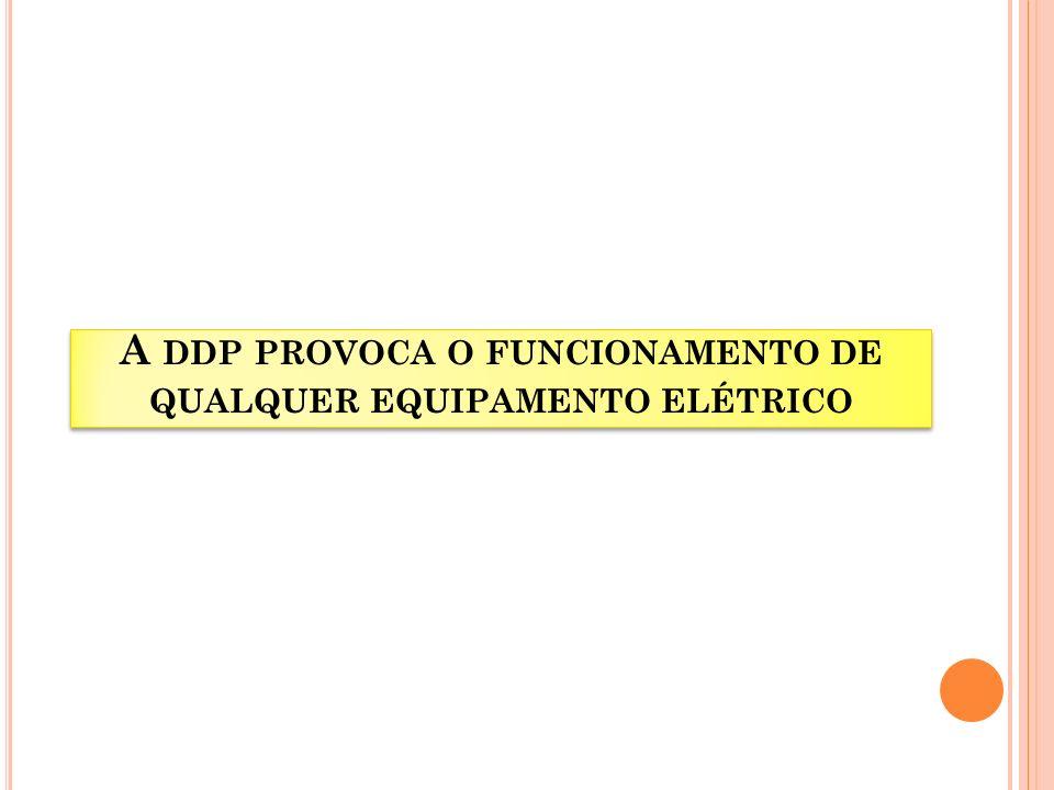 A DDP PROVOCA O FUNCIONAMENTO DE QUALQUER EQUIPAMENTO ELÉTRICO