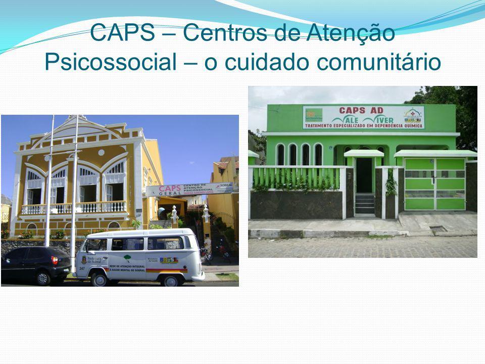 CAPS – Centros de Atenção Psicossocial – o cuidado comunitário