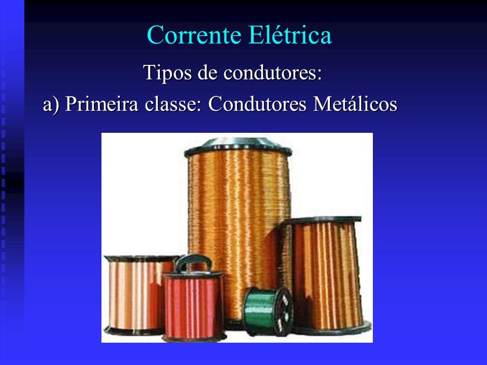 Tipos de corrente elétrica Nos gases rarefeitos a corrente elétrica tem como portadores de carga os íons positivos e negativos como também a movimenta