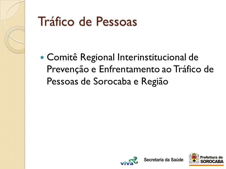 Tráfico de Pessoas Comitê Regional Interinstitucional de Prevenção e Enfrentamento ao Tráfico de Pessoas de Sorocaba e Região