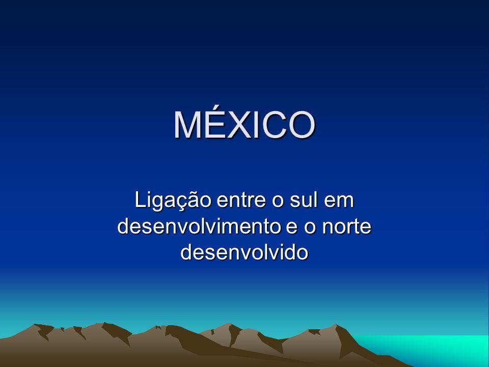 MÉXICO Ligação entre o sul em desenvolvimento e o norte desenvolvido