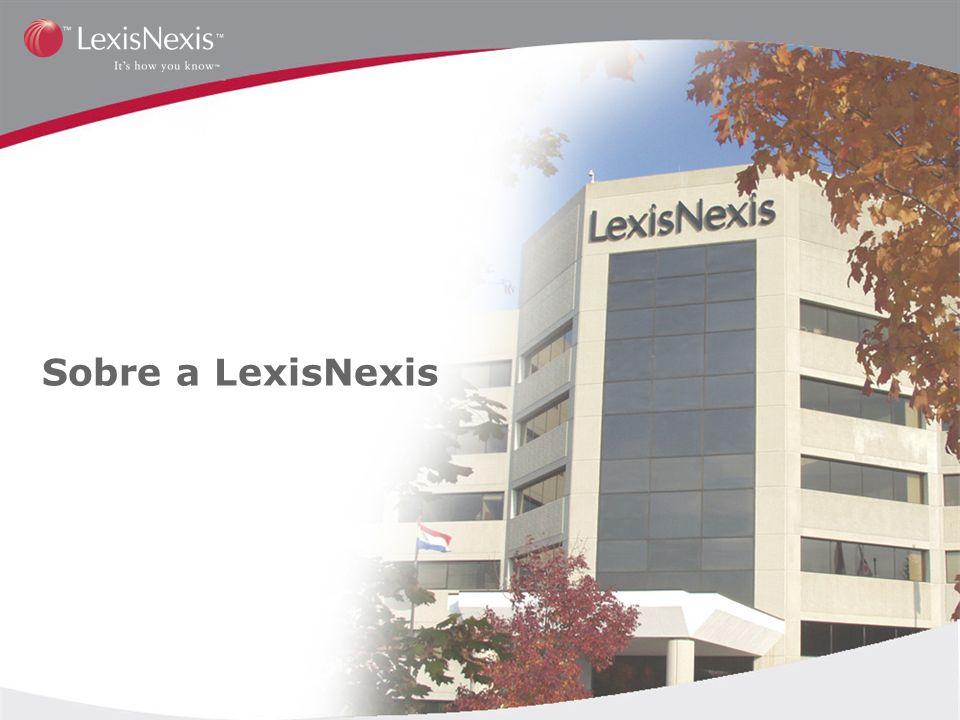 Historico da Empresa Inicio da Lexis com sistema de pesquisa legal mais eficiente 19731980 Lancamento do servico de noticias para negocios Nexis.com Os servicos da LexisNexis se tornam ferramentas indispensaveis na coleta e fornecimento de informacoes para firmas, empresas e universidades ao redor do mundo 2003 1994