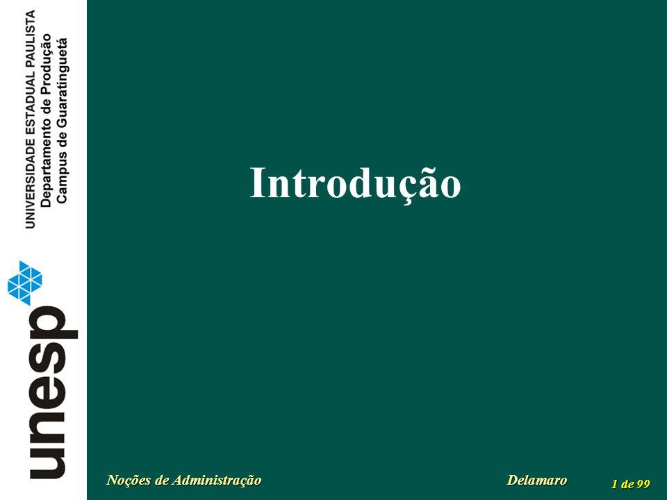 Noções de Administração Delamaro 1 de 99 Introdução