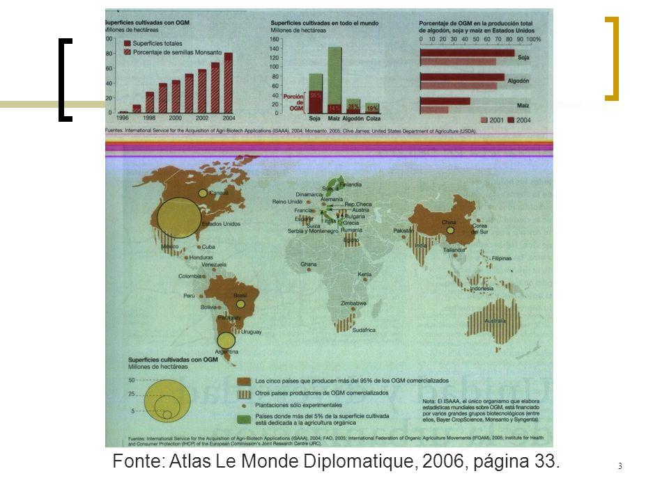 3 Fonte: Atlas Le Monde Diplomatique, 2006, página 33.