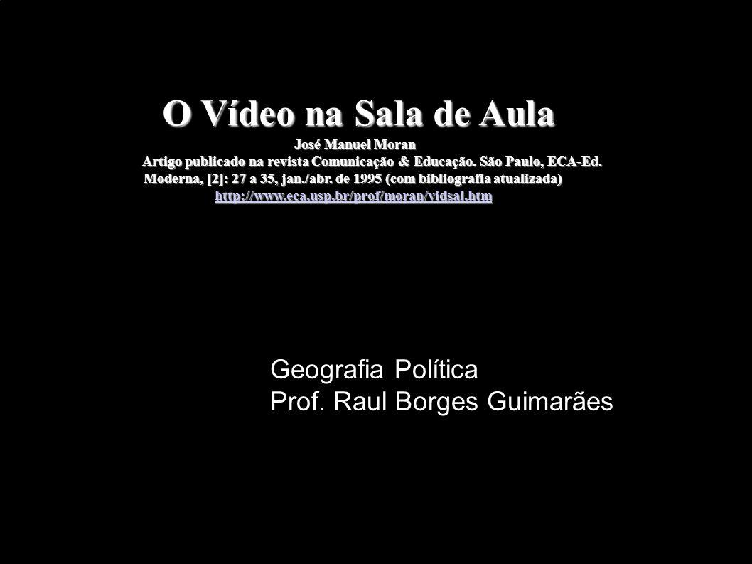 O Vídeo na Sala de Aula O Vídeo na Sala de Aula José Manuel Moran José Manuel Moran Artigo publicado na revista Comunicação & Educação. São Paulo, ECA
