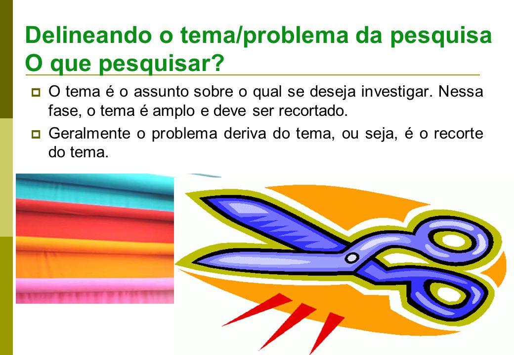 4 Um problema de pesquisa é objeto de discussão em qualquer domínio do conhecimento científico.