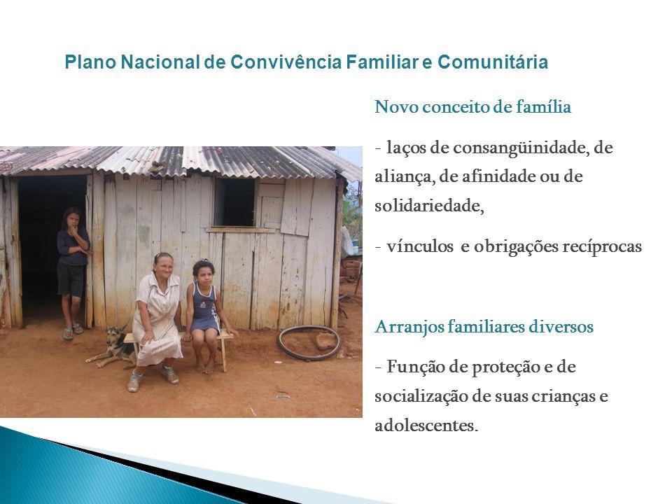 Novo conceito de família - laços de consangüinidade, de aliança, de afinidade ou de solidariedade, - vínculos e obrigações recíprocas Arranjos familia