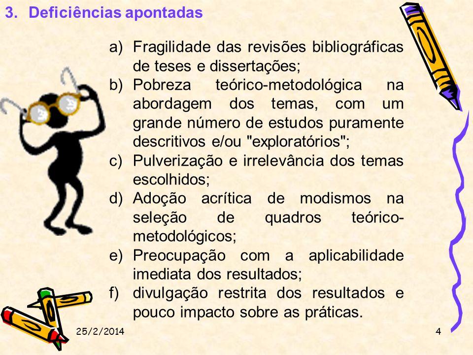 a.Pobreza teórico-metodológica + adesão aos modismos + preocupação com a aplicabilidade imediata dos resultados.