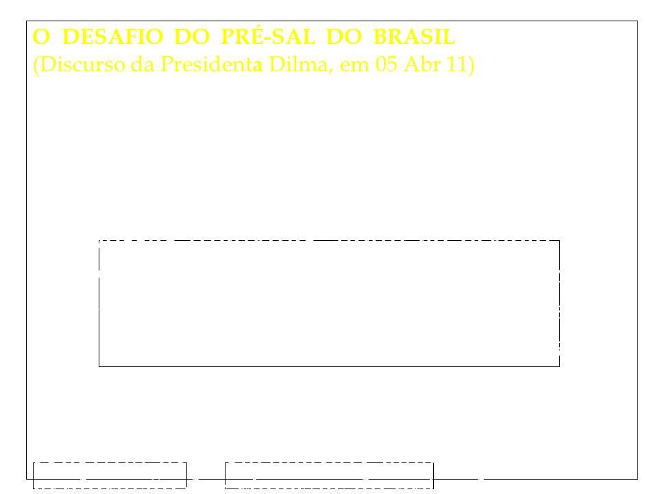 Clique para editar o estilo do subtítulo mestre 15/02/12 O DESAFIO DO PRÉ-SAL DO BRASIL (Discurso da President a Dilma, em 05 Abr 11) As riquezas do pré-sal, descobertas nas profundezas do Atlântico, impõem um novo estágio para as forças de defesa.