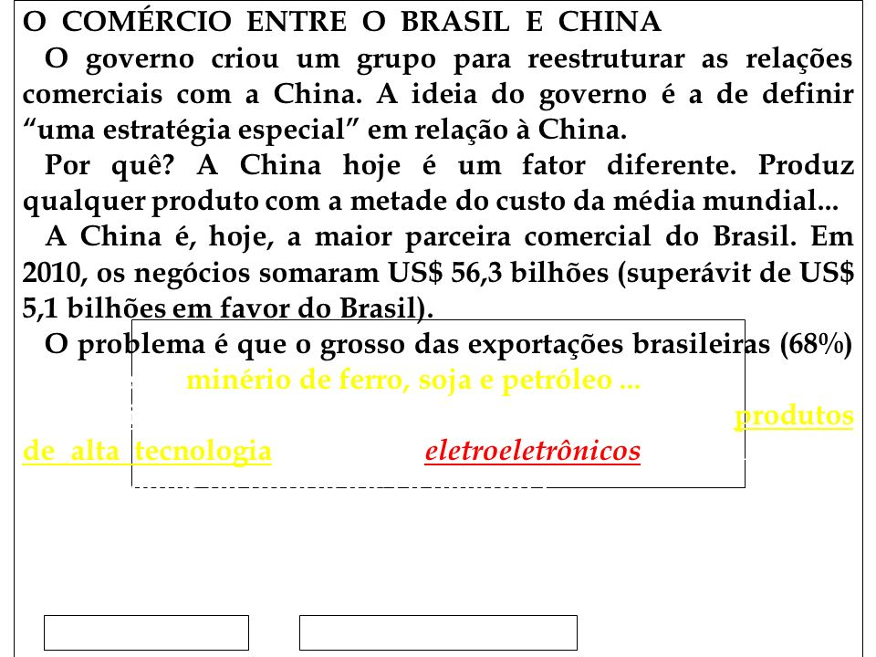 Clique para editar o estilo do subtítulo mestre 15/02/12 O COMÉRCIO ENTRE O BRASIL E CHINA O governo criou um grupo para reestruturar as relações comerciais com a China.