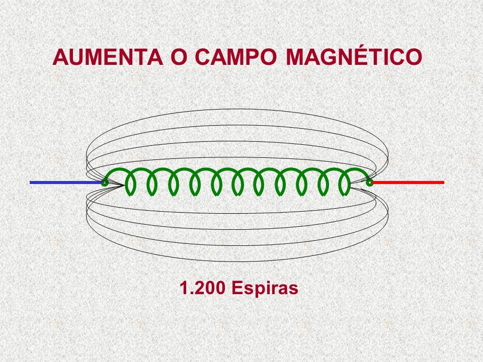 600 Espiras AUMENTANDO O NÚMERO DE ESPIRAS DA BOBINA