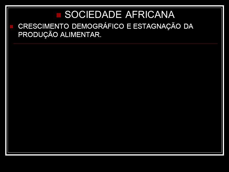 SOCIEDADE AFRICANA CRESCIMENTO DEMOGRÁFICO E ESTAGNAÇÃO DA PRODUÇÃO ALIMENTAR.