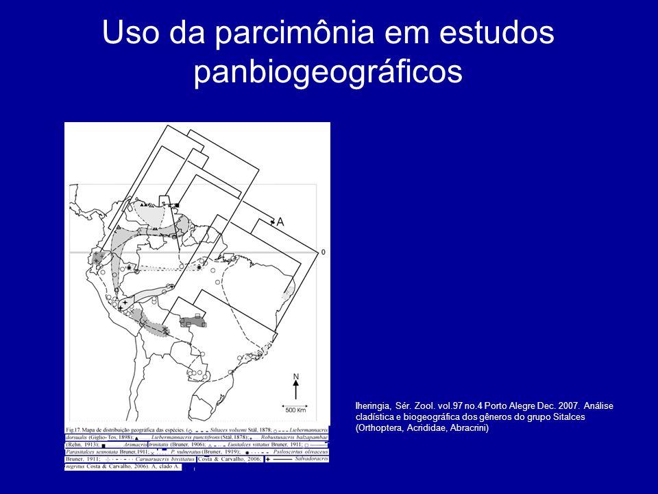 Uso da parcimônia em estudos panbiogeográficos Iheringia, Sér. Zool. vol.97 no.4 Porto Alegre Dec. 2007. Análise cladística e biogeográfica dos gênero