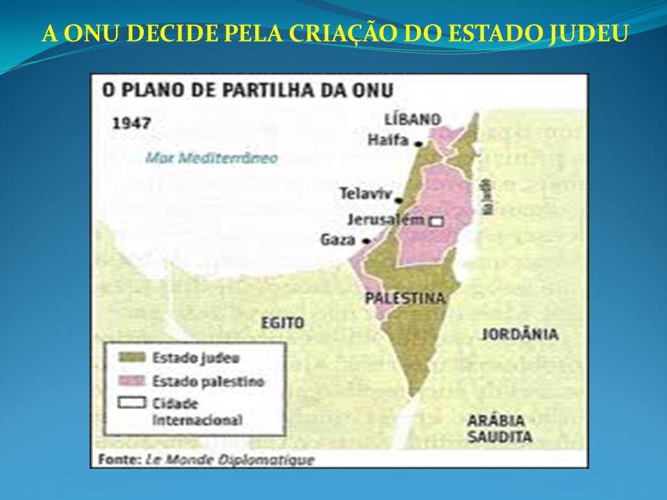 A ONU DECIDE PELA CRIAÇÃO DO ESTADO JUDEU