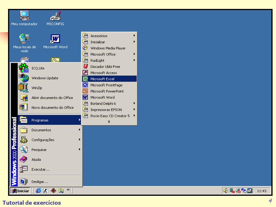Tutorial de exercícios 15 Para Imprimir um arquivo Vá com o mouse até o menu Arquivo e clique em Imprimir; Verifique se a impressora indicada é a que está sendo usada; Selecione o número de cópias que deseja ter do arquivo e aperte o botão OK.