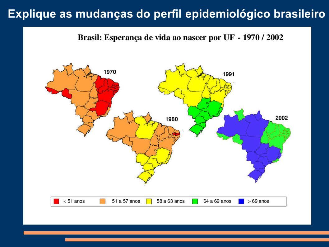 Explique as mudanças do perfil epidemiológico brasileiro