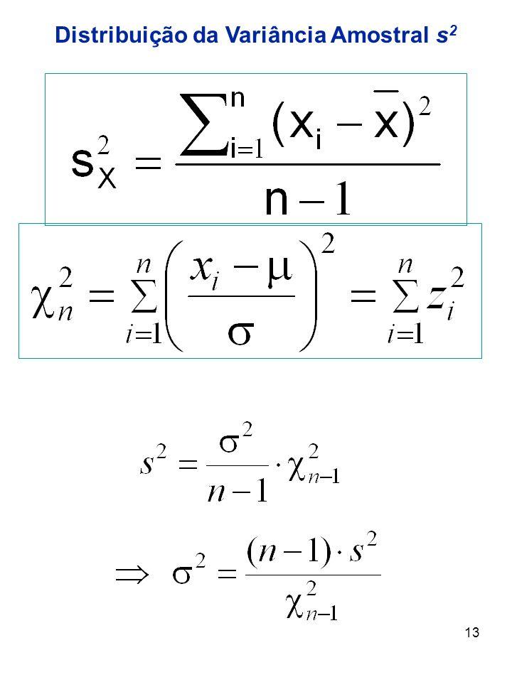 13 Distribuição da Variância Amostral s 2