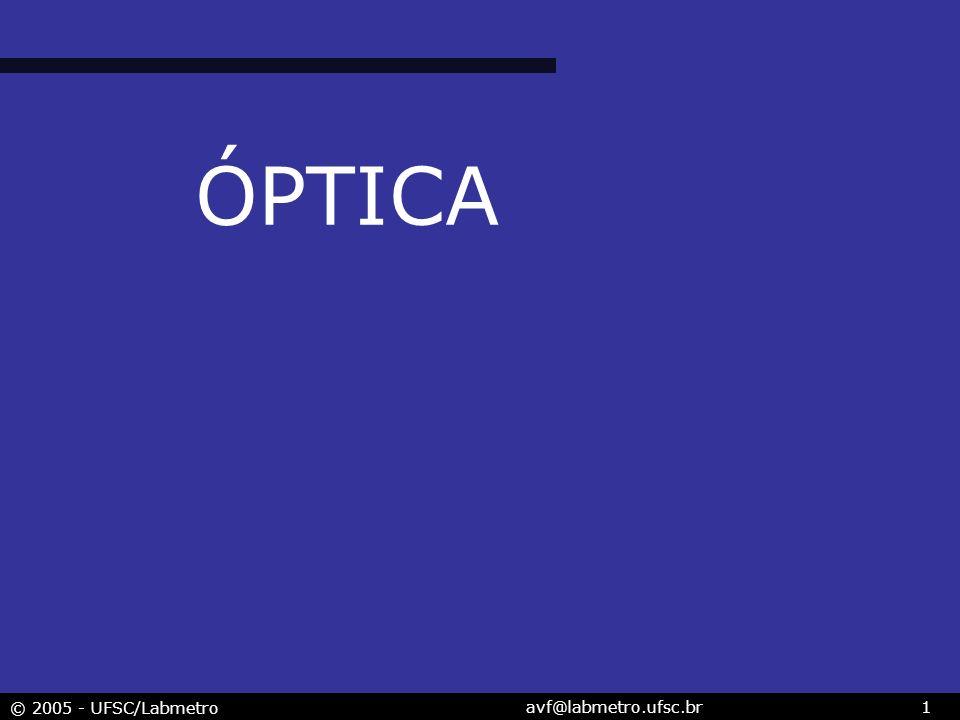 © 2005 - UFSC/Labmetro avf@labmetro.ufsc.br1 ÓPTICA