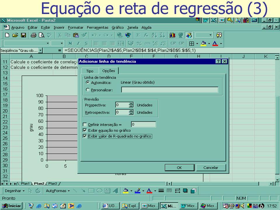 Tutorial de exercícios Equação e reta de regressão (3)