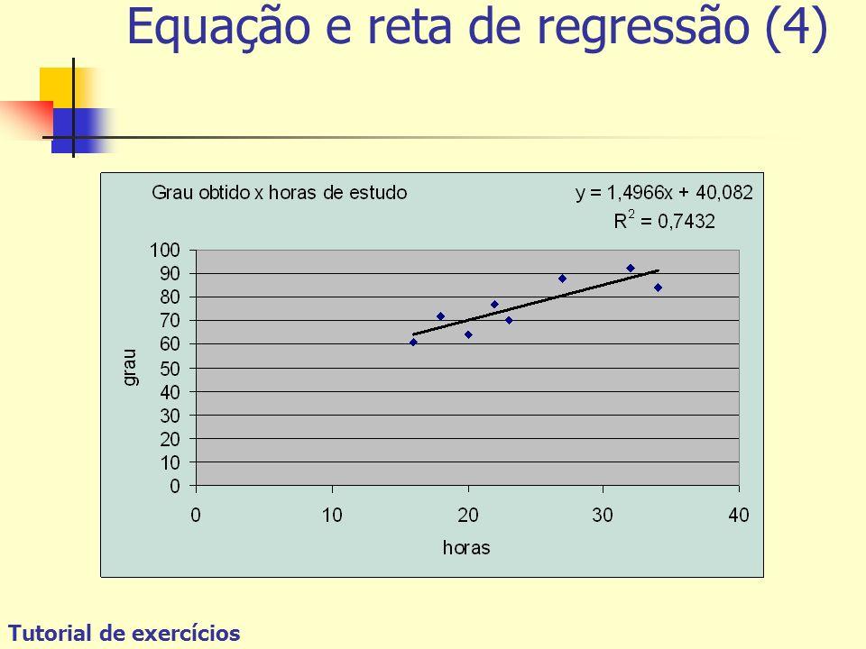 Tutorial de exercícios Equação e reta de regressão (4)
