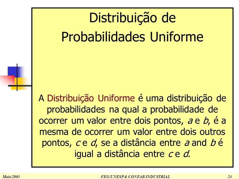 © 2002 Prentice-Hall, Inc.Chap 5-26 Uniform Probability Distribution Distribuição de Probabilidades Uniforme A Distribuição Uniforme é uma distribuiçã
