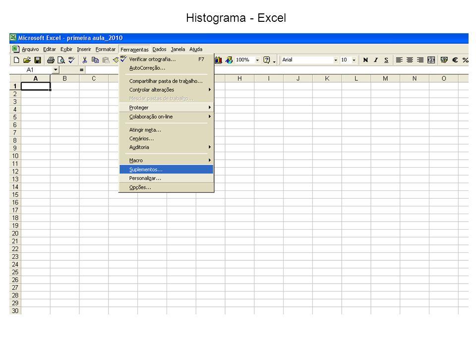 Histograma - Excel