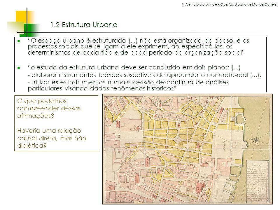 Espaços livres em megacidades 1.2 Estrutura Urbana O espaço urbano é estruturado (...) não está organizado ao acaso, e os processos sociais que se lig