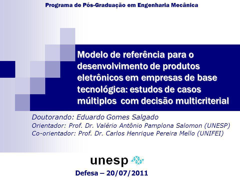 Modelo de referência para o desenvolvimento de produtos eletrônicos em empresas de base tecnológica: estudos de casos múltiplos com decisão multicriterial 22 7.
