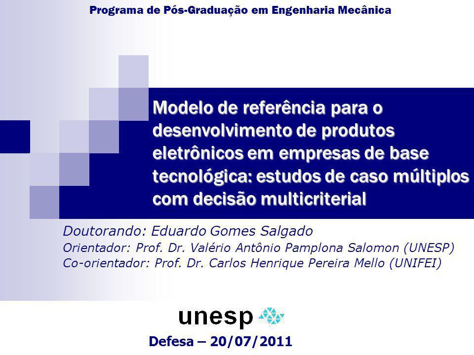 Modelo de referência para o desenvolvimento de produtos eletrônicos em empresas de base tecnológica: estudos de caso múltiplos com decisão multicriter