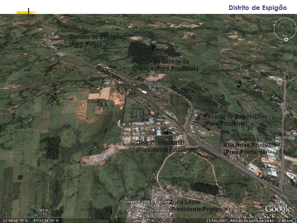 Espaços livres em megacidades Distrito de Espigão (Reg. Feijó) Parque da Cidade da Criança (Pres.Prudente) Distrito Industrial (Presidente Prudente) R