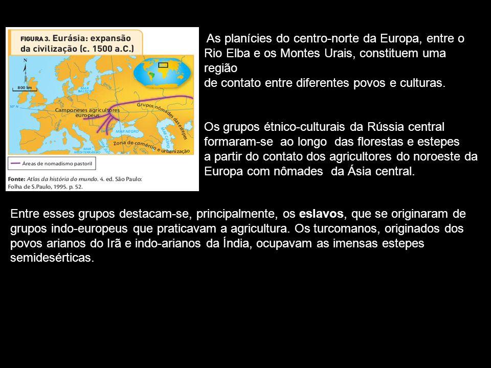 As planícies do centro-norte da Europa, entre o Rio Elba e os Montes Urais, constituem uma região de contato entre diferentes povos e culturas.