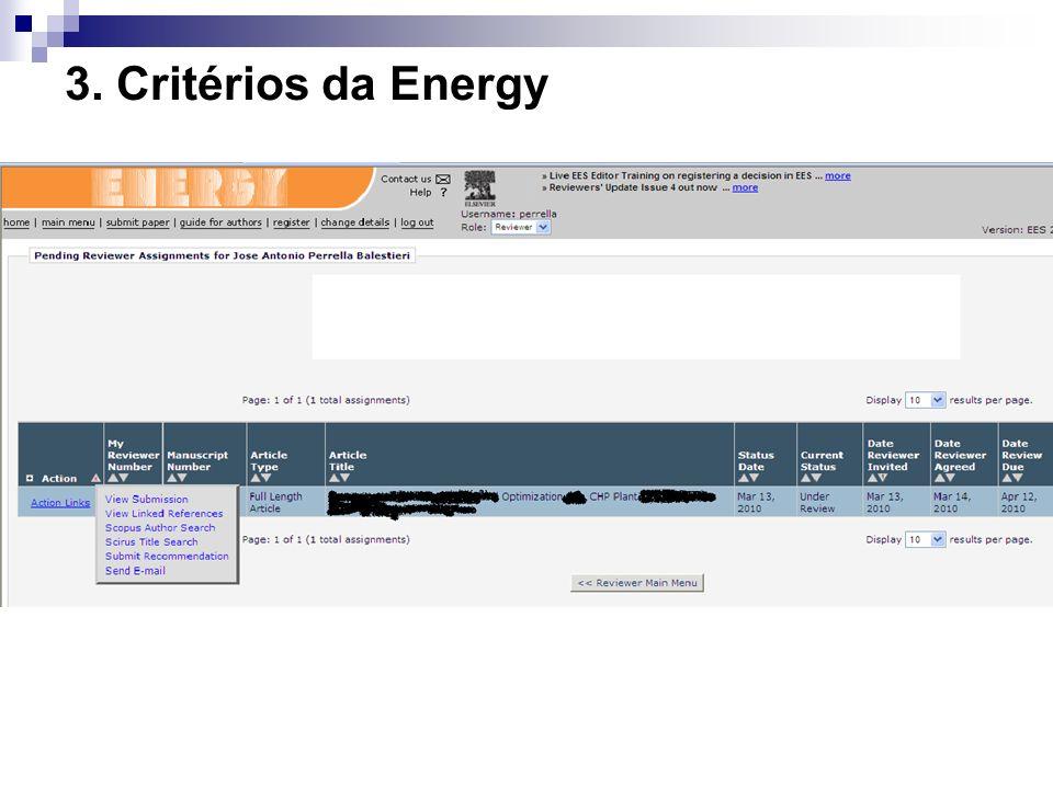 3. Critérios da Energy