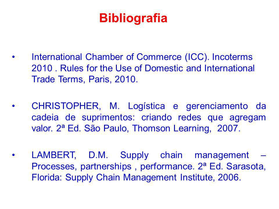 Bibliografia International Chamber of Commerce (ICC). Incoterms 2010. Rules for the Use of Domestic and International Trade Terms, Paris, 2010. CHRIST