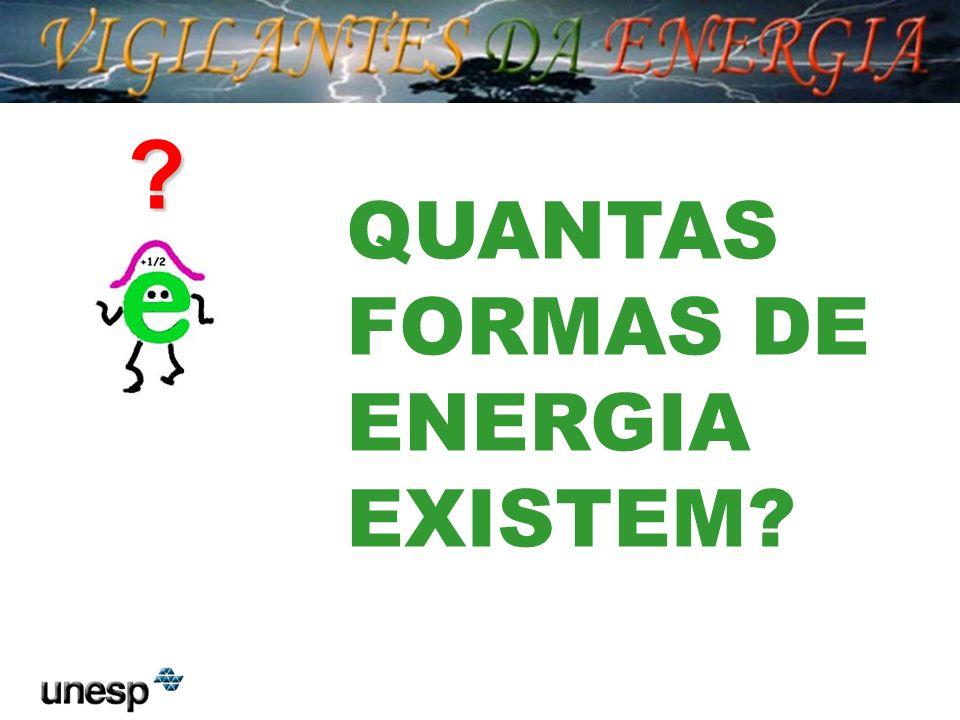 A energia pode ser encontrada em várias formas...
