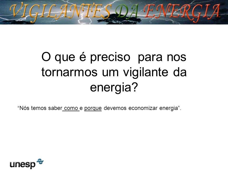O que é preciso para nos tornarmos um vigilante da energia? Nós temos saber como e porque devemos economizar energia.