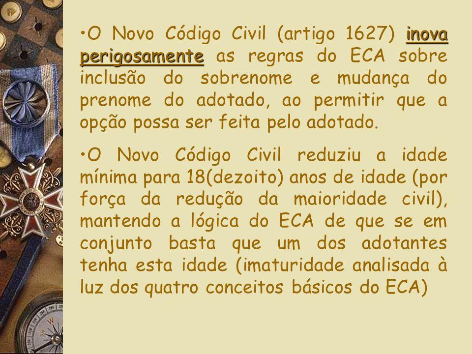 O NCC(art1629) repete a C F/88 e O Eca sobre adoção por estrangeiros, remetendo para Lei específica, omitindo-se: FUNÇÃO DA CONVENÇÃO DE HAIA SOBRE AD