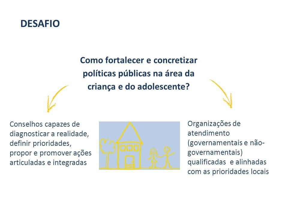 Como fortalecer e concretizar políticas públicas na área da criança e do adolescente.