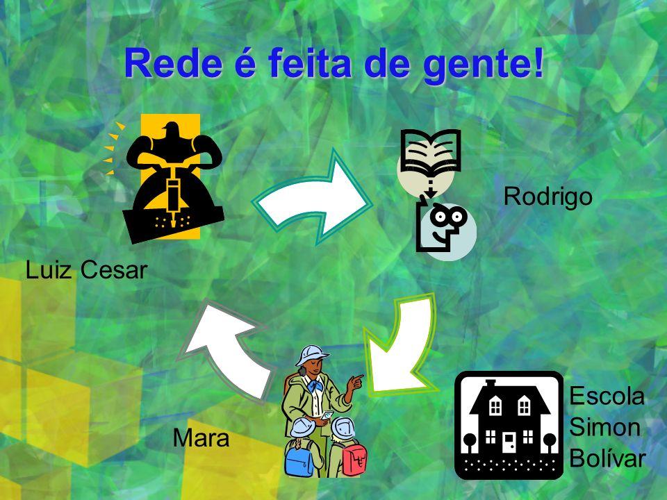 Rede é feita de gente! Luiz Cesar Rodrigo Escola Simon Bolívar Mara