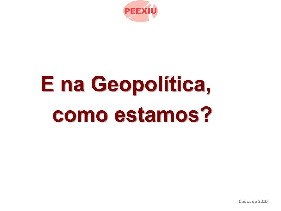 E na Geopolítica, E na Geopolítica, como estamos como estamos Dados de 2010