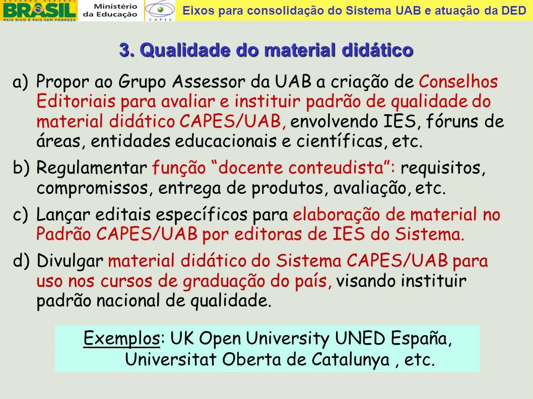 Eixos para consolidação do Sistema UAB e atuação da DED Tutoria presencial com professores capacitados pelo Centro.